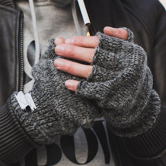 Перчатки без пальчев из AliExpress
