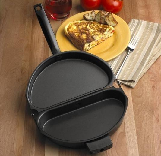 Сковорода с двумя отделениями для омлета или горячих бутербродов из AliExpress