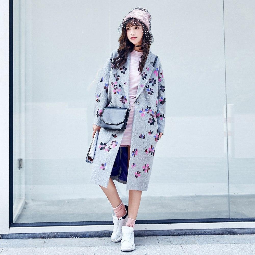 Пальто с принтом из AliExpress