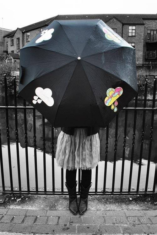 Зонт, меняющий цвет облаков во время дождя из AliExpress