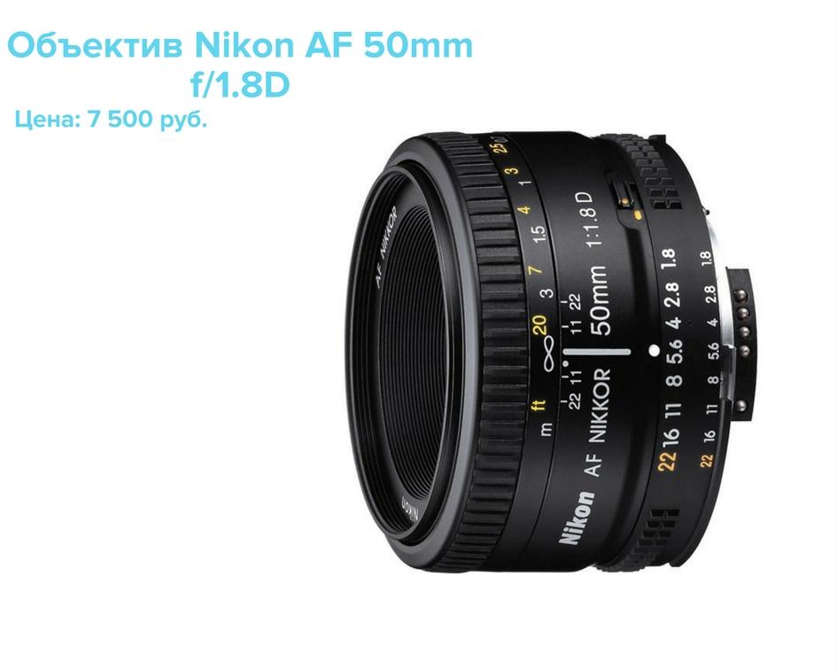 Объектив Nikon 50 mm купить