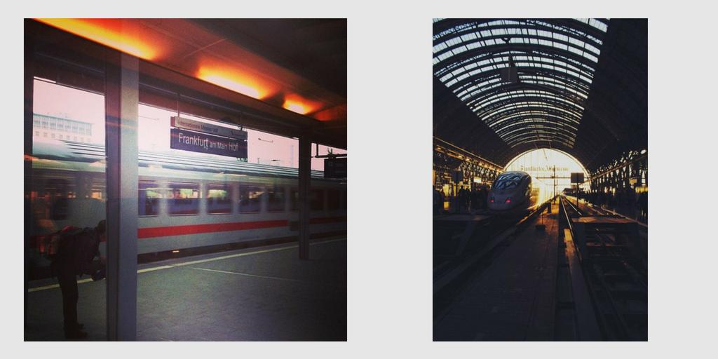 Главный ж/д вокзал во Франкфурте-на-Майне