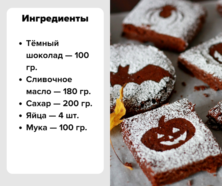 Брауни рецепт